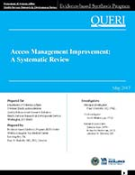 Access Management Improvement: A Systematic Review