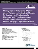 Management of Antiplatelet Therapy among Patients on Antiplatelet Therapy for Coronary or Cerebrovascular Disease