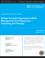 Benign Prostatic Hyperplasia (BPH) Management in Primary Care Screening and Therapy