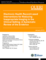 Electronic Health Record-based Interventions for Reducing Inappropriate Imaging in the Clinical Setting