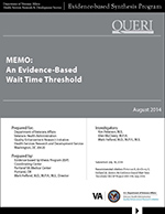 Memo: An Evidence-Based Wait Time Threshold