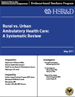 Rural vs. Urban Ambulatory Health Care Review