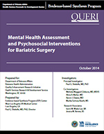 Mental Health Assessment and Psychosocial Interventions for Bariatric Surgery