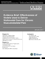 Evidence Brief: Effectiveness of Models Used to Deliver Multimodal Care for Chronic Musculoskeletal Pain