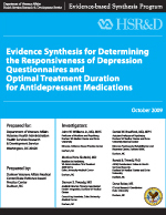 Determining the Responsiveness of Depression Questionnaires and Optimal Treatment Duration for Antidepressant Medications