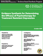 Determining the Efficacy of Psychotherapy for Treatment Resistant Depression