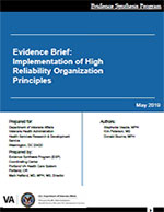 Evidence Brief: Implementation of High Reliability Organization Principles