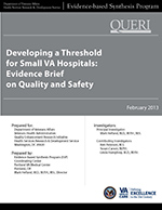 Developing a Threshold for Small VA Hospitals: Evidence Brief on Quality and Safety (February 2013)