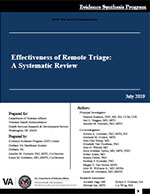 Effectiveness of Remote Triage: A Systematic Review