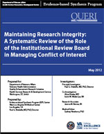 Maintaining Research Integrity: A Systematic Review of the Role of the Institutional Review Board (May 2012)