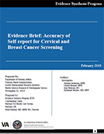 Evidence Brief: Accuracy of Self-report for Cervical and Breast Cancer Screening