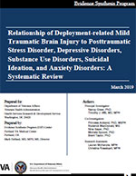 Relationship of Deployment-related Mild Traumatic Brain Injury to Posttraumatic Stress Disorder, Depressive Disorders, Substance Use Disorders, Suicidal Ideation, and Anxiety Disorders: A Systematic Review
