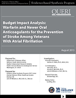 Budget Impact Analysis: Warfarin and Newer Oral Anticoagulants for the Prevention of Stroke Among Veterans With Atrial Fibrillation (August 2013)