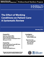 The Effect of Working Conditions on Patient Care: A Systematic Review (January 2012)