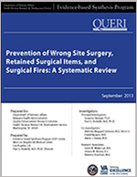 Prevention of Wrong Site Surgery, Retained Surgical Items, and Surgical Fires: A Systematic Review