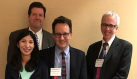 Photo: (from left to right) Sonya Gabrielian, MD, MPH; Alex Young, MD; Stefan Kertesz, MD, MSc; Tom O'Toole, MD