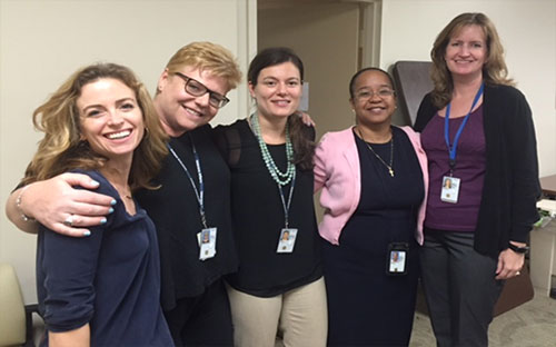 EMPOWER QUERI Leadership Team: (from left to right) Drs. Erin Finley, Alison Hamilton, Tannaz Moin, Bevanne Bean-Mayberry, and Melissa Farmer Coste