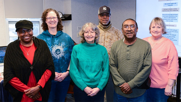 Veteran Engagement Panel for LAMP, From left to right: Rosie Glenn, Terri Stam, Neddy Wuertz, Ronald Nelson, Lawrence Clardy, and Donna Swenson.
